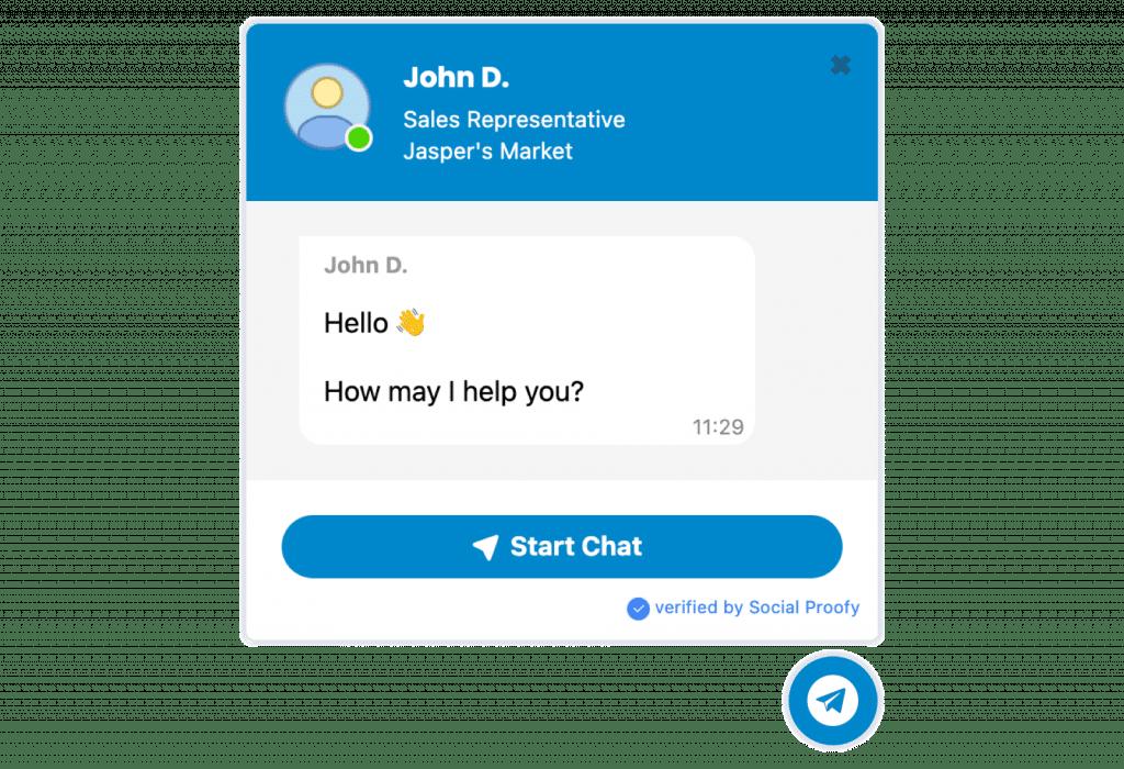Telegram Messenger Widget