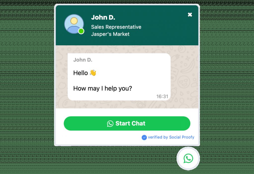 WhatsApp Chat Widget